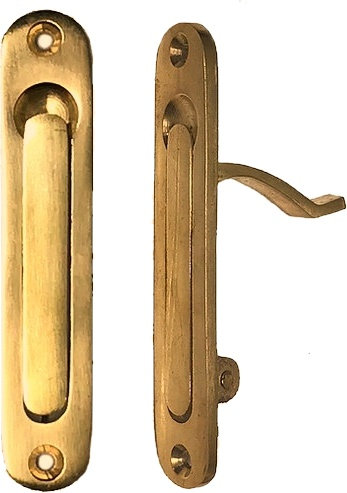 Large Rounded Pocket Door Edge Pull #2222