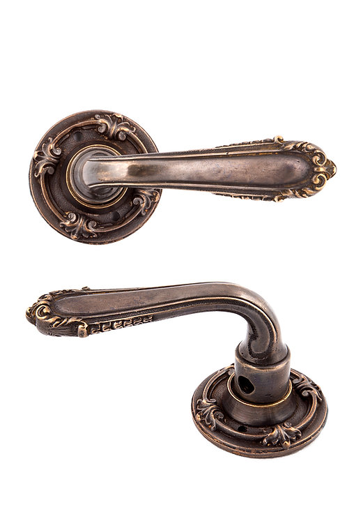Neoclassical French Shell Lever & Rosette Set #1803.USXX
