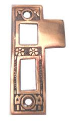 Linde pattern interior bronze mortise strike plate 3201.USXX