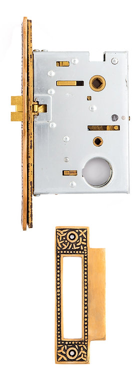 """2 1/2"""" Rice Baldwin Mortise Lock (with buttons) #14XX.USXX"""
