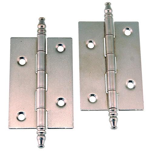 Pair Steeple Tip Steel Cabinet Hinges