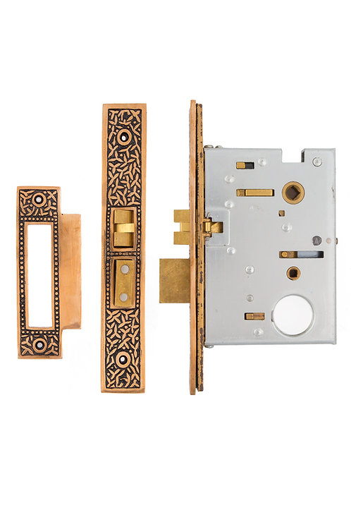 "2 1/2"" Rice Baldwin Mortise Lock (without buttons) #14XX.USXX"