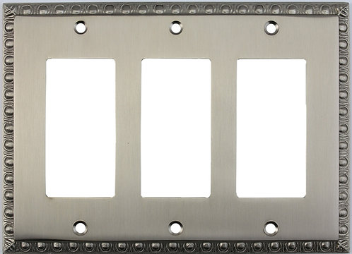 Egg and Dart tripple GFI switch plate 3 finishes