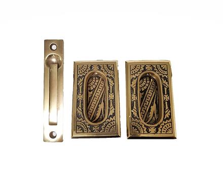 Oriental Small Pocket Door Set #1299.USXX