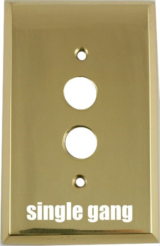 Push button switch plates; 5 configurations