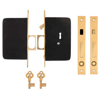 Plain Double Pocket Door Locks #2102.USXX