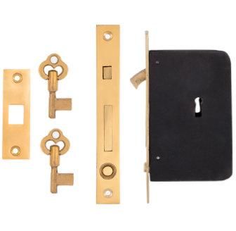 Plain Single Pocket Door Lock #2159.USXX