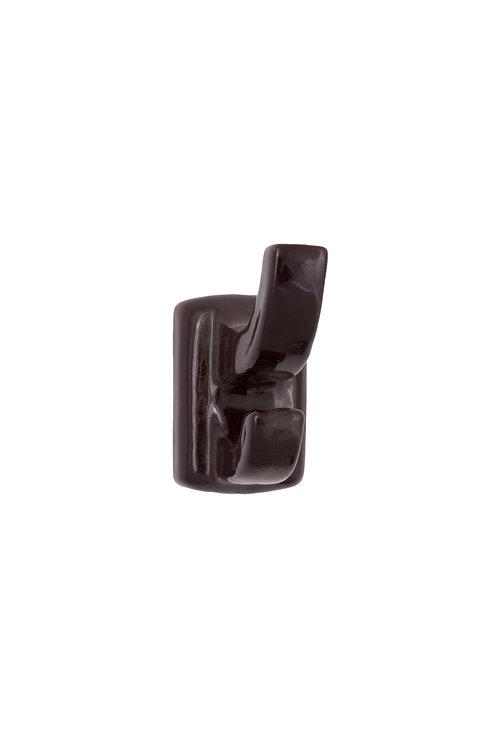 Black Ceramic Robe Hook #4218.US19
