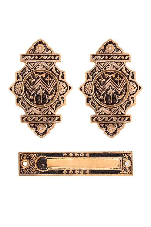 Oriental Fancy Passage Pocket Door Set #1341.USX