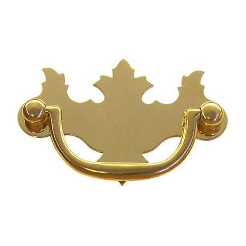 Maple Leaf Chippendale Brass Pull
