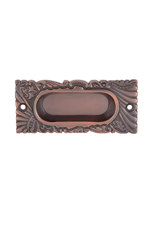 Antique Copper Roanoke Window Lift/ Sm Pocket Handle #1534.US8