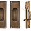 Thumbnail: Egg and Dart Passage Pocket Door Set Antique Brass