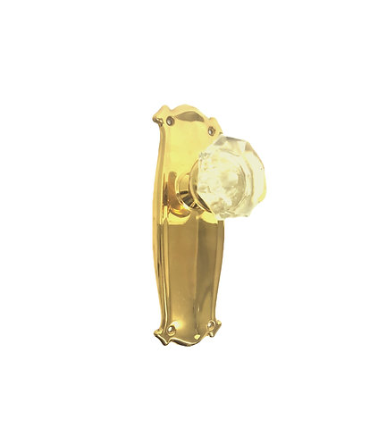 Bungalow Back Plates With 1890 Glass Doorknobs #040x.US3A