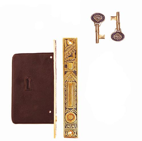 Oriental Single Pocket Door Lock #1398.US9X