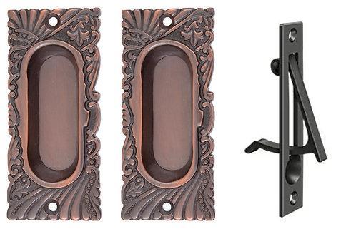 Roanoke Small Passage Pocket Door Set #1545.USXX