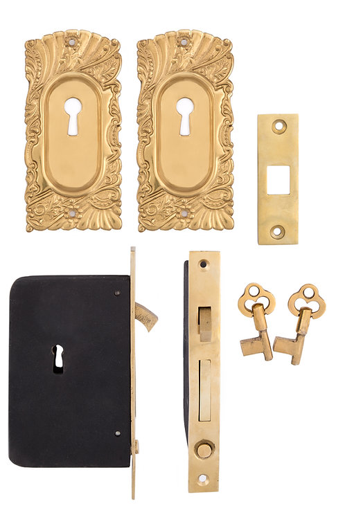 Roanoke Keyed Pocket Door Sets #153X.USXXX