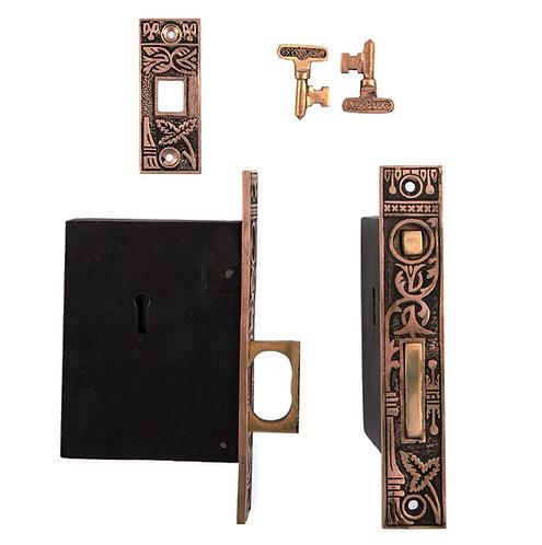 Broken Leaf Single Pocket Door Lock #0327.USXXX