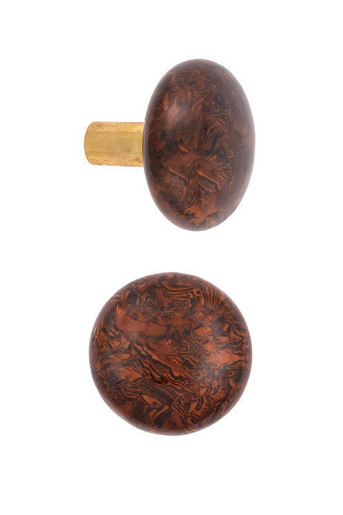 Mortise Type Bennington Doorknobs with Brass Ferrules