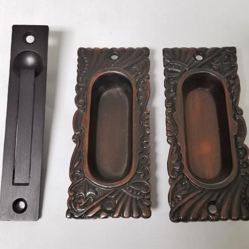 Roanoke Small Passage Pocket Door Set #1545.USXX - Door Hardware, Front & Antique Door Hardware Charleston Hardware Co.