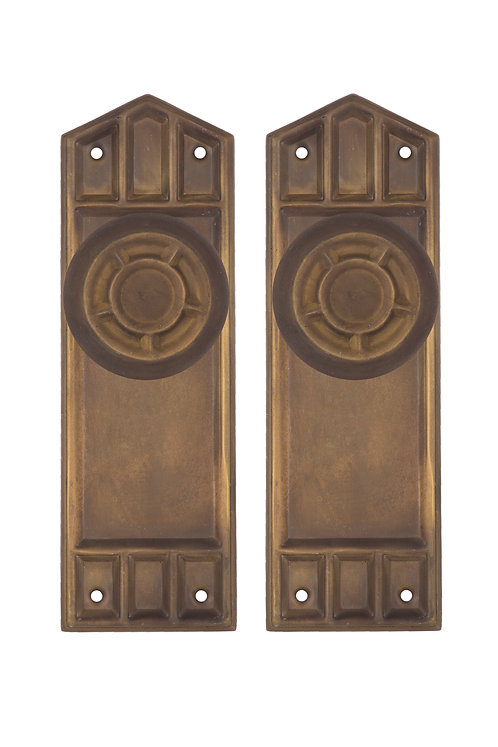 Craftsman Doorknob and Back Plate Set #102X.USXXX