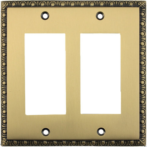 Egg and Dart double GFI switch plate 3 finishes