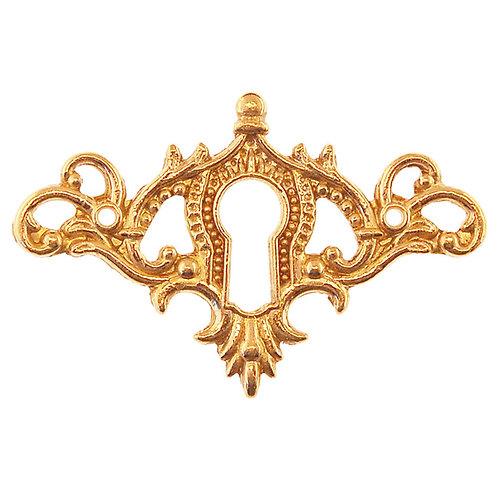 Filagree Key Escutcheon for Oak Furniture