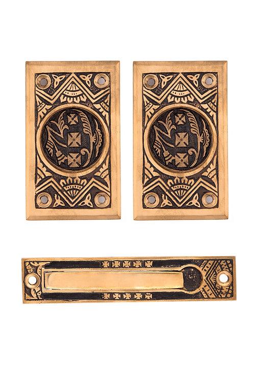 Oriental Passage Pocket Door Set #1340.USXXX