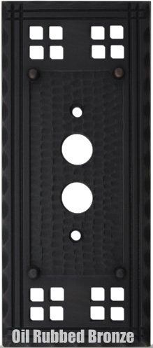 Mission push button switch plates