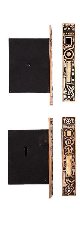 Broken Leaf Double Pocket Door Lock #0328.USXXX