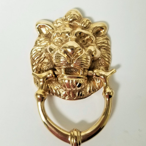 Small Lion Doorknocker #3410.US3A