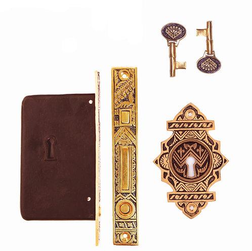 Oriental Single Pocket Door Lock Set #1307X.US