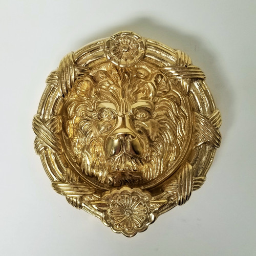 Round Lion Doorknocker #3413.US3A