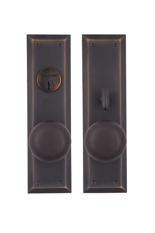 Solid Pressed Brass Entry Door Set. This Set Works With A Baldwin Mortise  Lock (sold Separately) The Set Includes A Pair Of Back Plates, Pair Of  Doorknobs ...