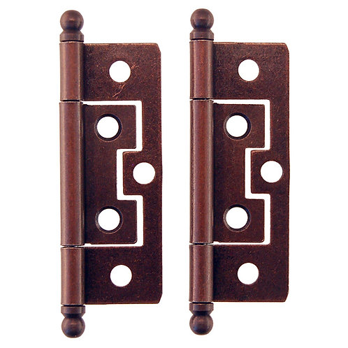 "Pr Non-Mortise Steel Hinges 2"",  2 1/2"""