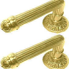 Pair Ribbed Levers