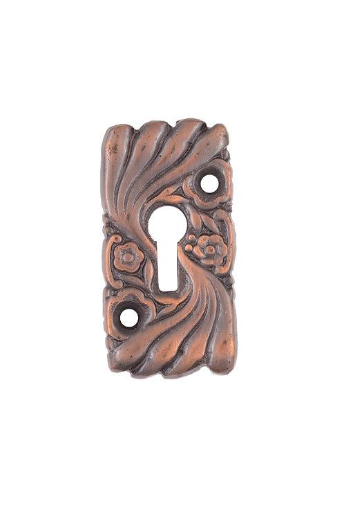 Antique Copper Roanoke Escutcheon #1533.US8