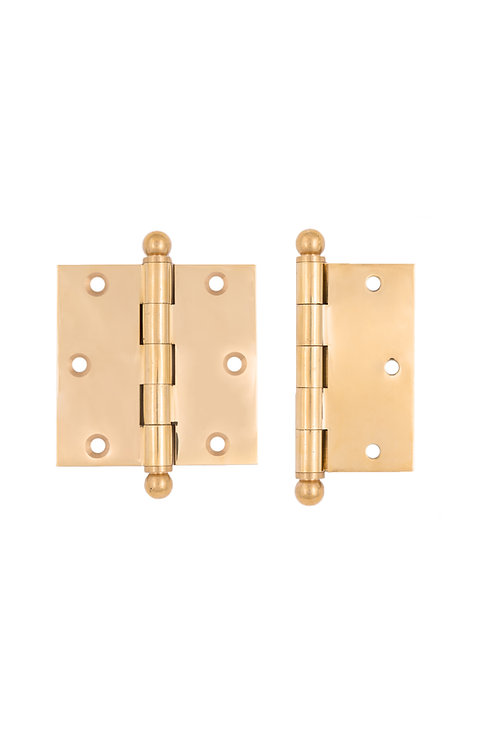 "2 1/2 x 2 1/2"" Removable Pin Ball Tip Hinges #3727.USXX"