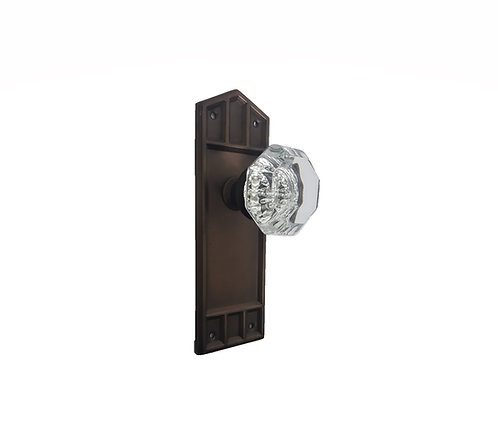 Craftsman Back Plates With Glass Doorknobs