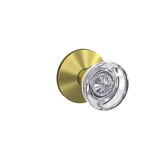 Hobson glass knobs wth Kinsley trim