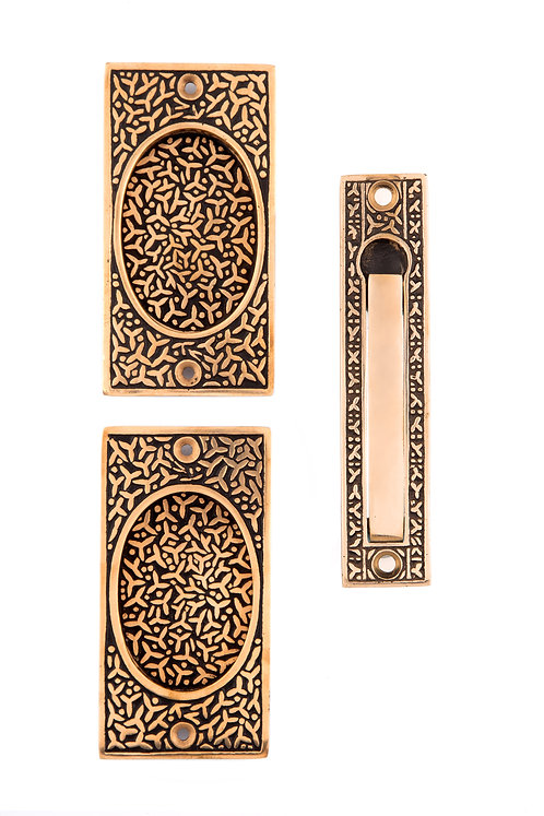 Rice Passage Pocket Door Set #1448.USXXX