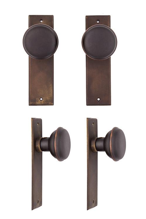 Small NY Back Plate & Doorknob Sets #122X.USXXX