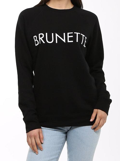 "Brunette the Label ""Brunette"" Crew Neck"