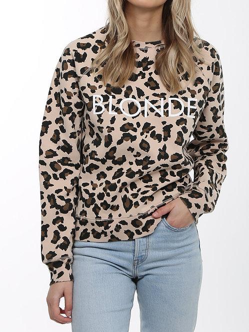 "Brunette the Label ""Blonde Leopard"" Crew neck"