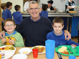 Grandparents enjoy lunch at Landscore!