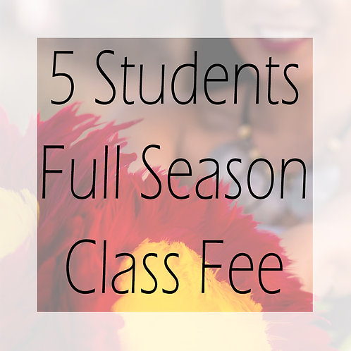 FAll 2020 Class Fee Full +5 Students