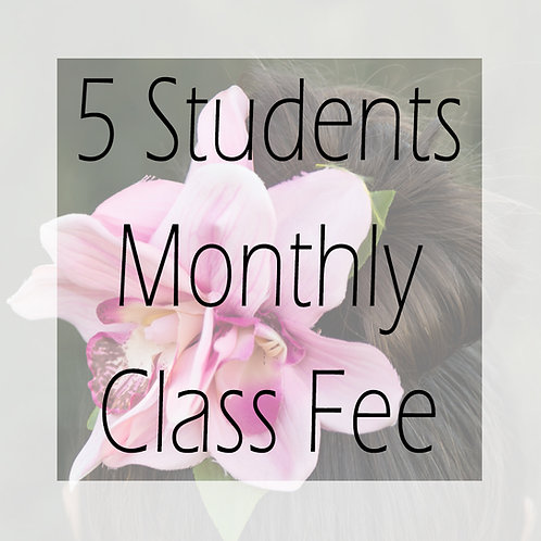 Fall 2020 Class Fee Monthly +5 Students