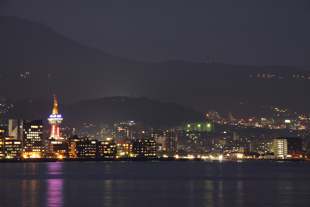 Night View of Beppu City