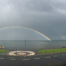 Rainbow over Filey Bay