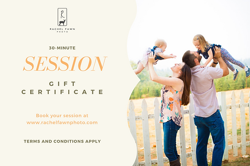 30-Minute Session Gift Certificate