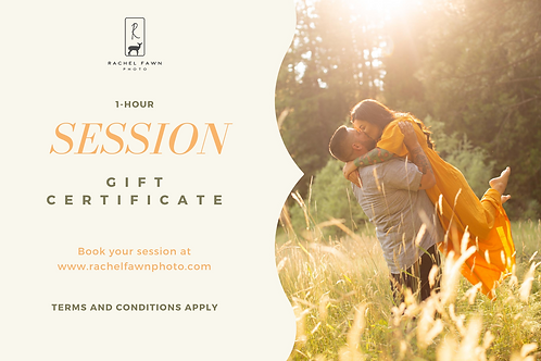 1-Hour Session Gift Certificate